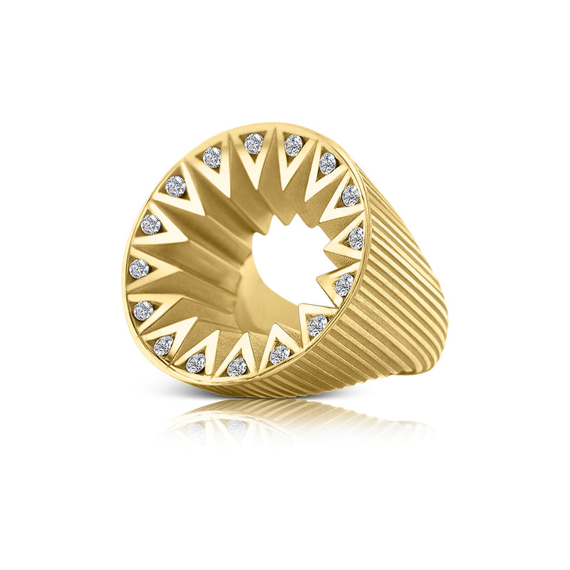Taxila Gold: White Diamond Cocktail Ring