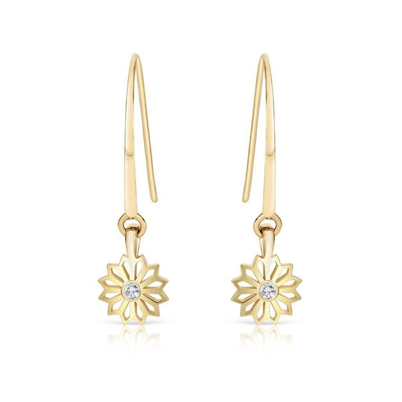Pushpa Gold and Diamond Earrings
