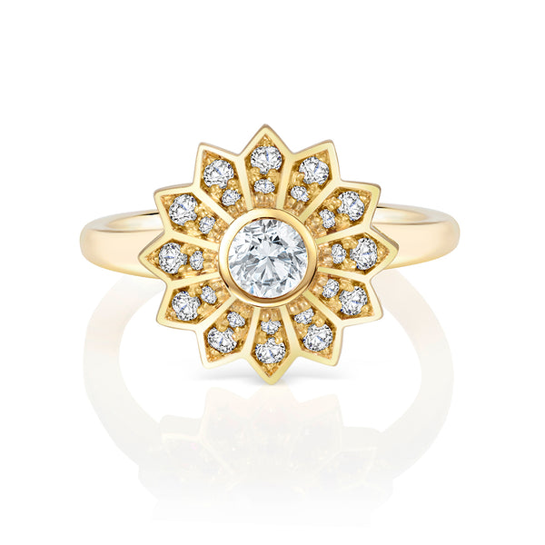 Pushpa Star Diamond Engagement Ring