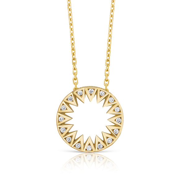 Taxila Gold and Diamond Pendant