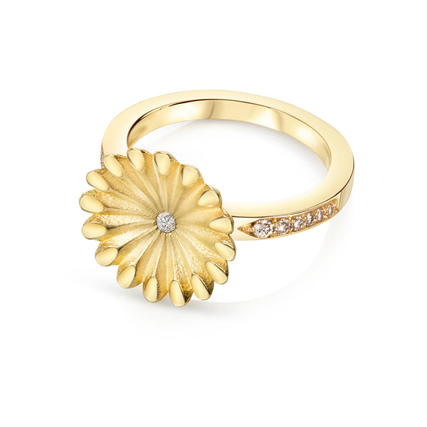 Lotus Radial Diamond Ring