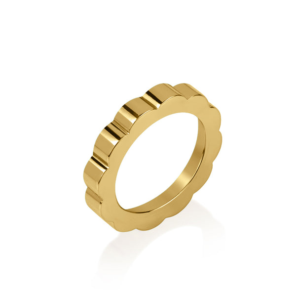 Shakti Thin Band in gold