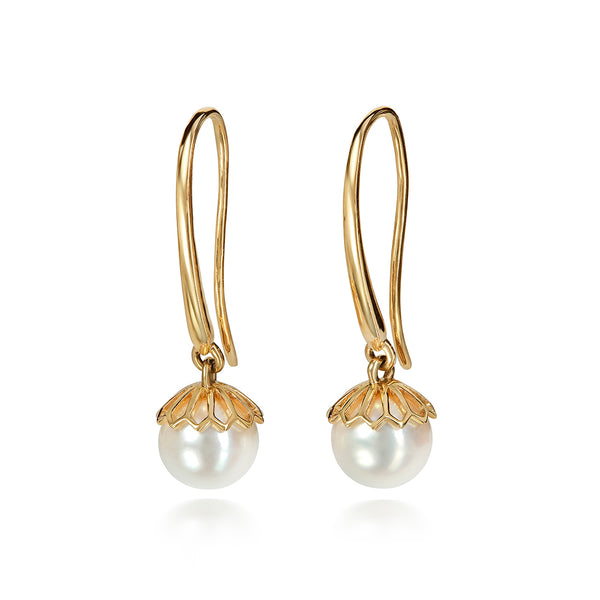 Jali Gold Pearl Earrings
