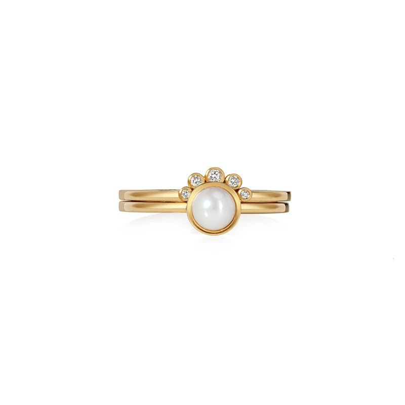 Chandri Gold and Pearl Ring