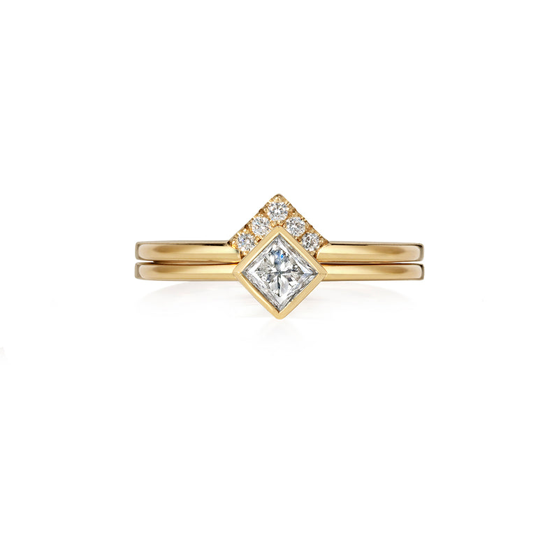 Square Tiara Diamond Ring