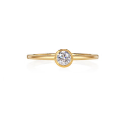 Small Delicate Engagement Ring