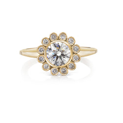 Aditi Flower Engagement Ring