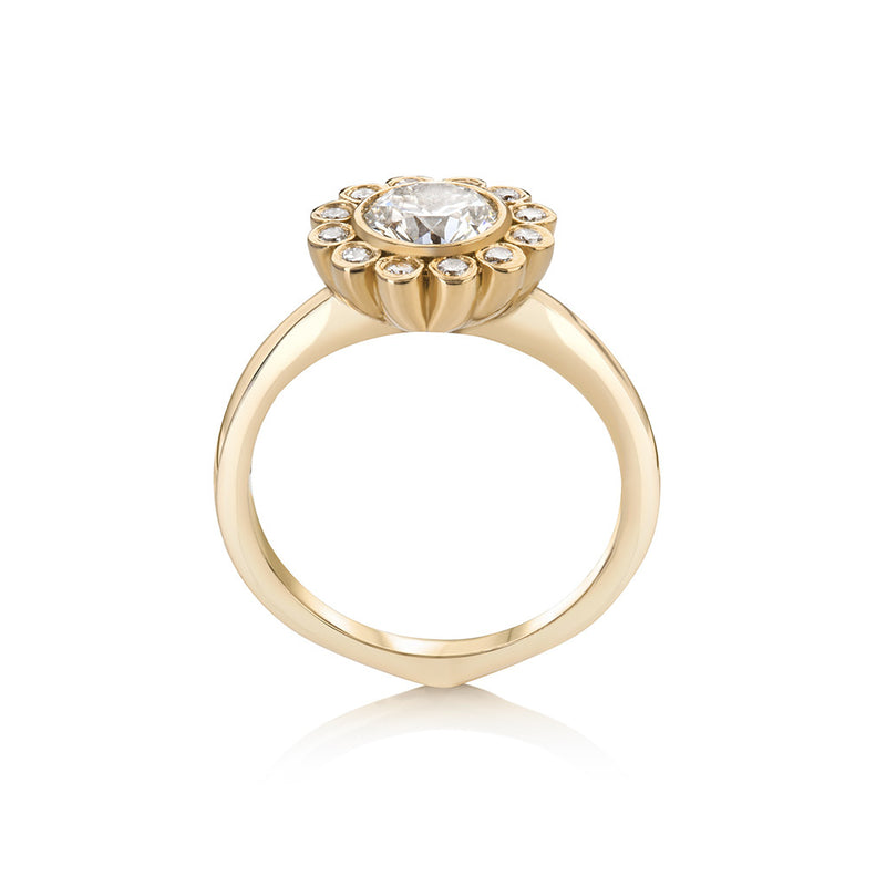 Aditi Diamond Floral Ring