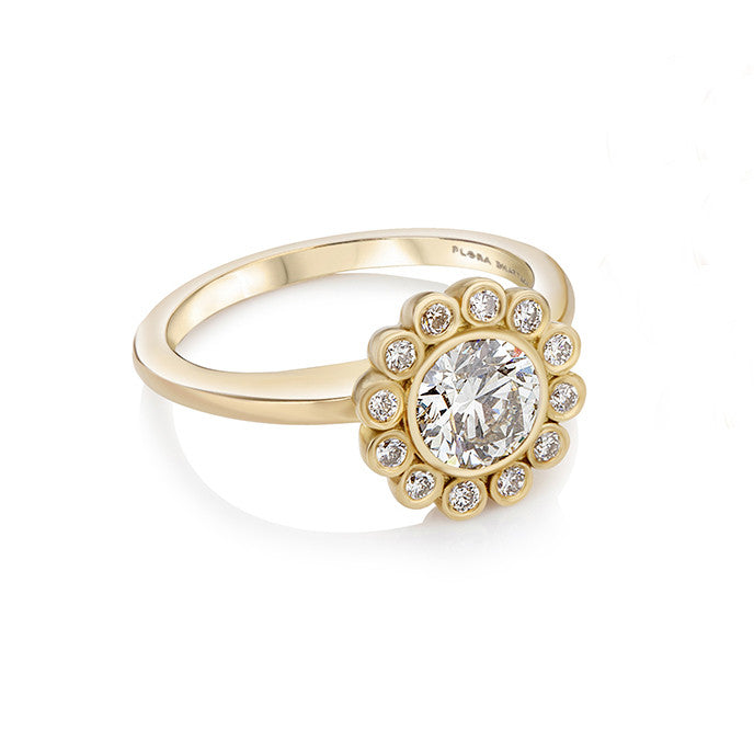 Aditi Halo Diamond Ring