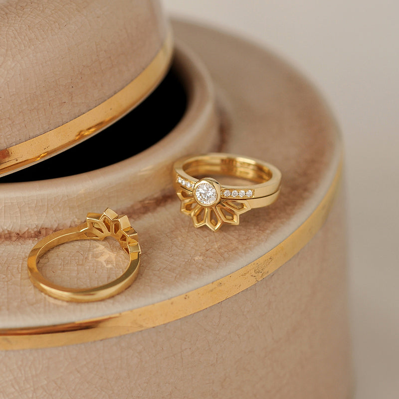 Gold and Diamond Ring Jackets