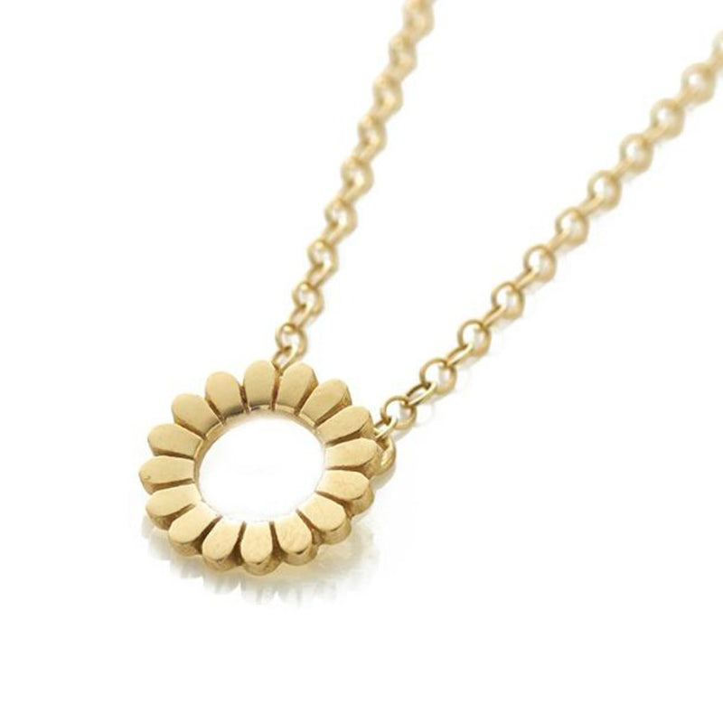 Flower Hoop Gold Pendant