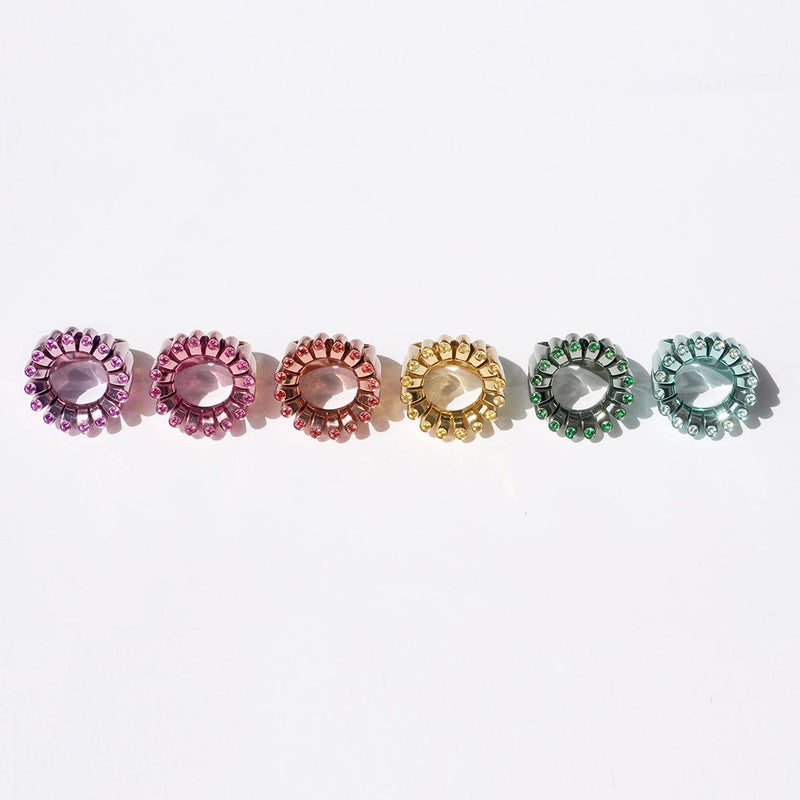 Precious Stone Set Disco Rings