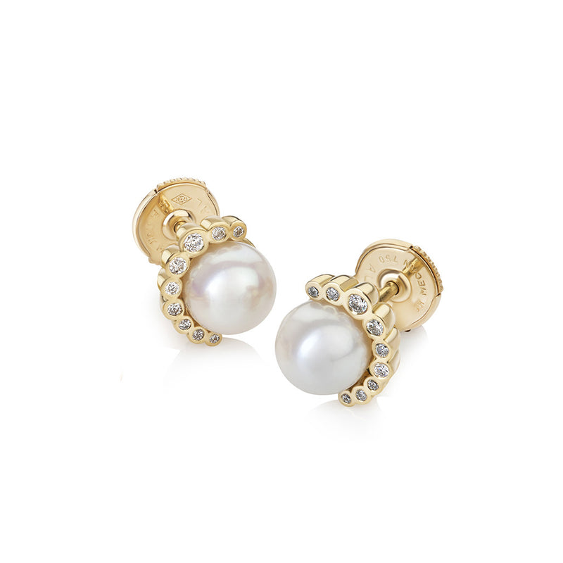 Aditi Pearl and Diamond Studs