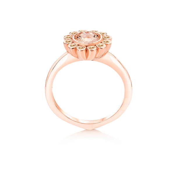 Aditi Morganite Zodiac Ring