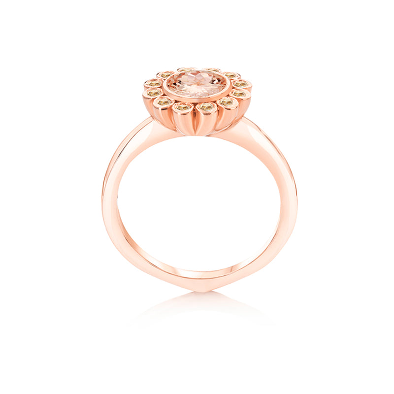 Aditi Morganite Ring