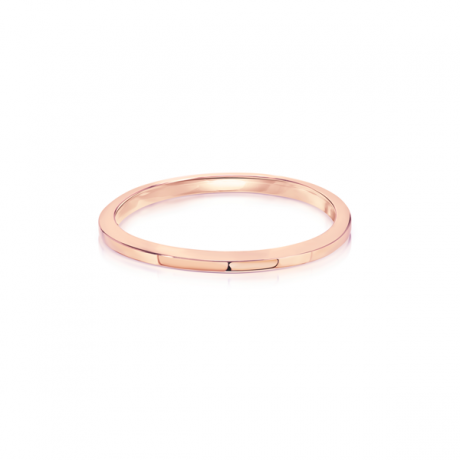 Ravi Gold: Angled Wedding Band