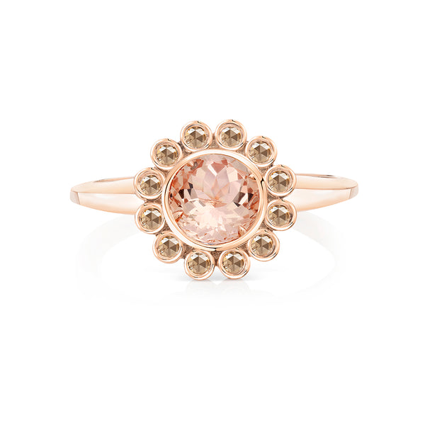 Aditi Morganite and Diamond Ring