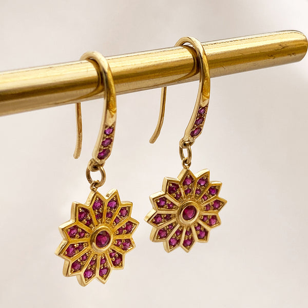 Pushpa Ruby Earrings