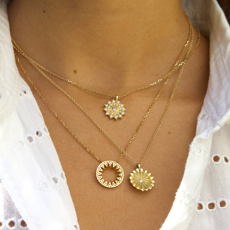 Layered Gold and Diamond Necklaces