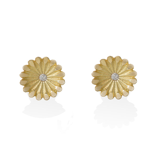 Lotus Radial Diamond Studs
