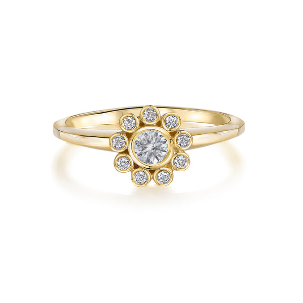Aditi Gold: White 0.38 Carat Diamond Constellation Ring
