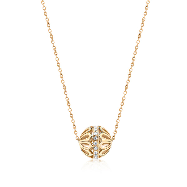 Diamond Bead Gold Chain Necklace