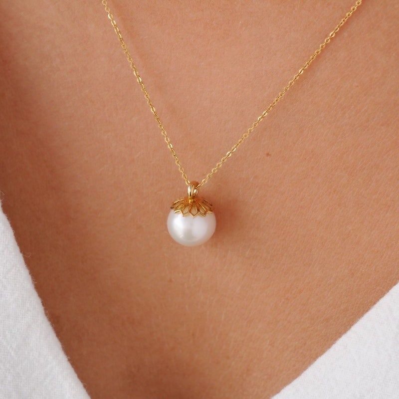 Gold Pearl Pendant