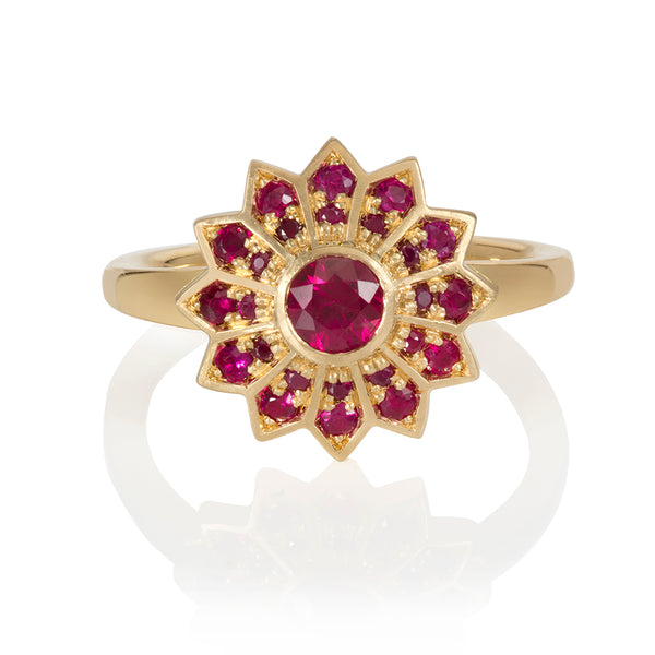Pushpa Gold: Ruby Ring