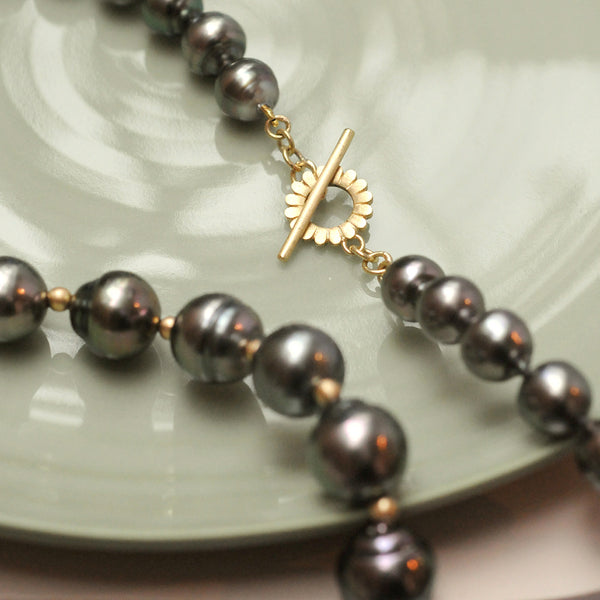 Lotus Tahitian Pearl Necklace
