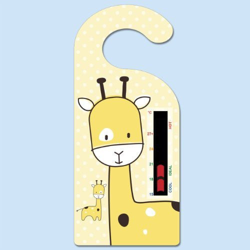 Giraffe Hanger Nursery Room Safety Temperature Thermometer With New Moving Line Technology