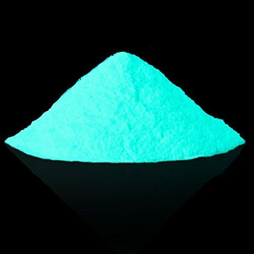 LARGE 250g - SKY BLUE - PHOTOLUMINESCENT STRONG AFTER GLOW - GLOW IN THE DARK PIGMENTS