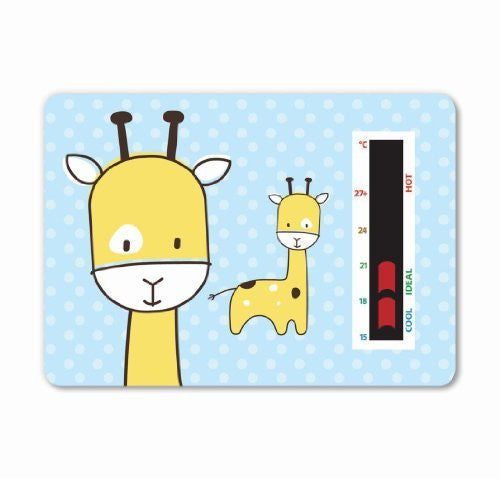 NEW! Baby Giraffe Room Thermometer (Blue) - To help you maintain a safe temperature for your baby or toddler with new moving line technology. A gentle design to fit in with any nursery theme.