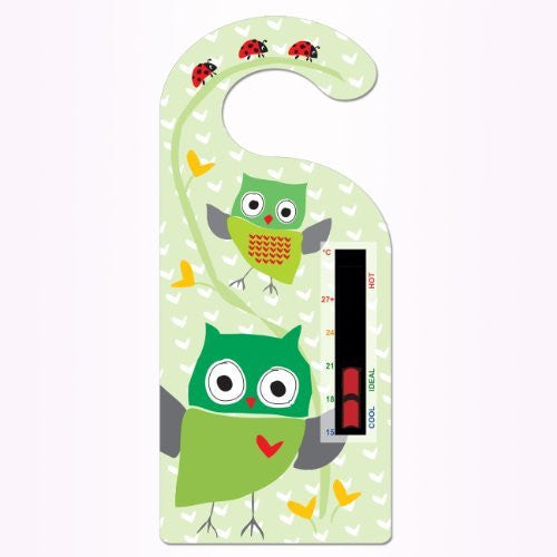 Owl Hanger Nursery Room Thermometer Card