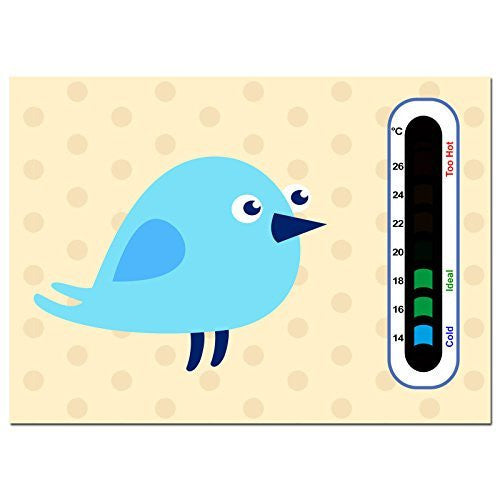 Baby Safe Ideas Blue Bird Nursery Room Thermometer - Using Latest Easy Read Colour Changing Technology