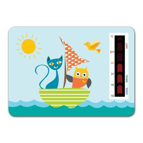 Owl and The Pussycat Nursery Room Thermometer Card
