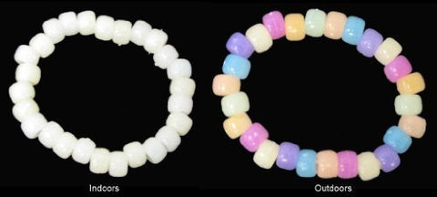 SolarActive® UV Colour Changing Pony Bead Bracelet - A great visual indicator to the strength of the sun - the stronger the colours the stronger the sun!