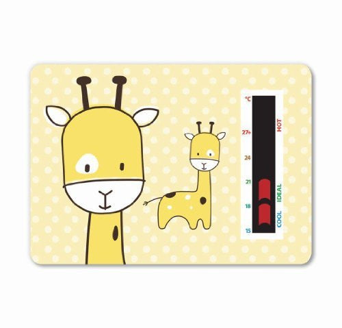 NEW! Baby Giraffe Room Thermometer (Yellow) - To help you maintain a safe temperature for your baby or toddler with new moving line technology. A gentle design to fit in with any nursery theme.