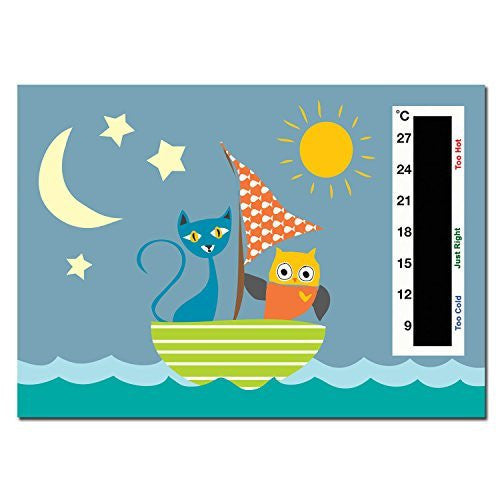 Baby Owl & the Pussycat in Boat Nursery Room Safety Temperature Thermometer Monitor