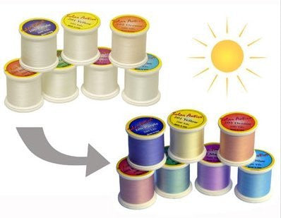 UV Colour Changing Threads - White to Colour 7 Spool Sample Pack