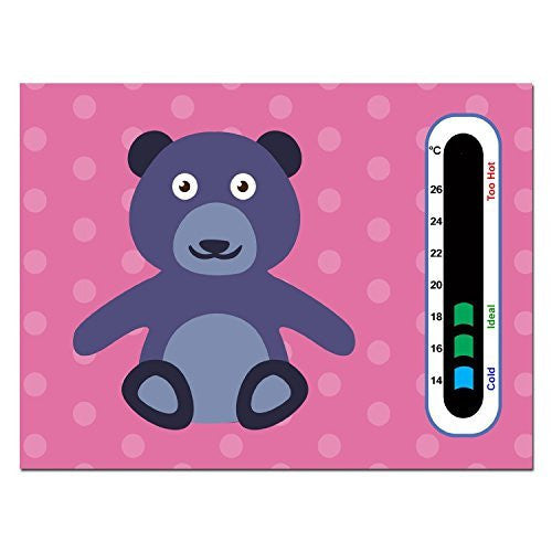 5 Pack - Cheeky Bear Nursery Room Thermometer Cards - Easy Read Colour Changing Technology