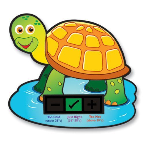 Turtle Baby Bath Thermometer Card