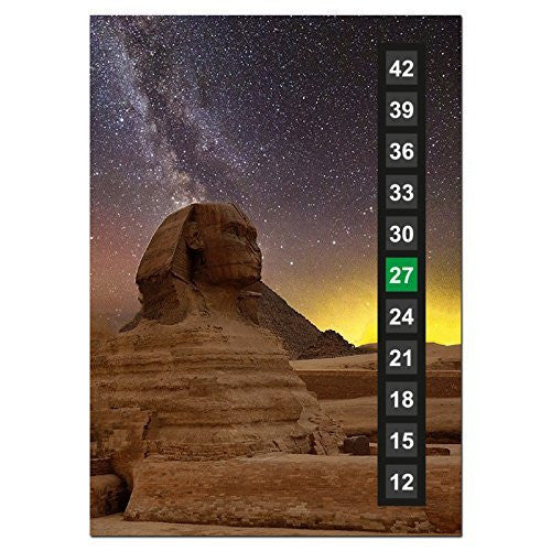 Large - Easy Read - Wide Range - Wall & Room Thermometer - Magnificent Giza in Egypt