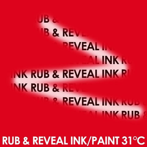 Colour Changing Thermochromic Ink Paint for Screen Printing onto Paper & Board 50ml - Red to Clear at 31C