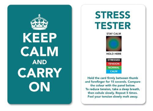 Turquoise - Keep Calm and Carry On Stress Mood Card