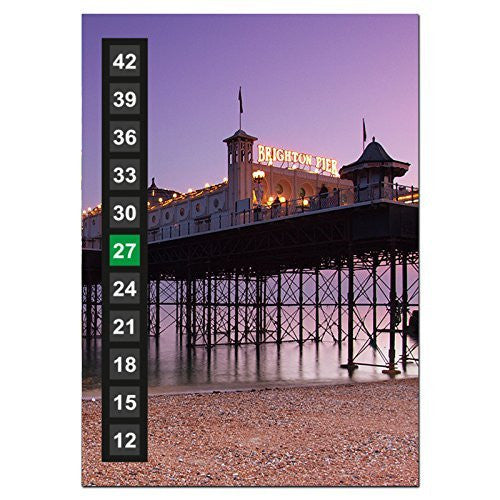 Large - Easy Read - Wide Range - Wall & Room Thermometer - Brighton Pier