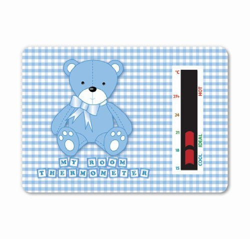 NEW! Baby Bear Room Thermometer (Blue) - To help you maintain a safe temperature for your baby or toddler with new moving line technology. A gentle design to fit in with any nursery theme.