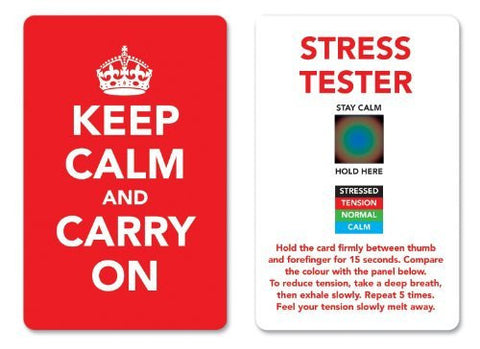 Red - Keep Calm and Carry On Stress Mood Card