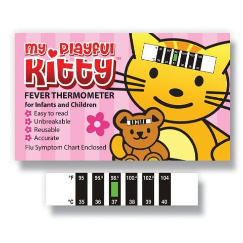 My Playful Kitty Baby Forehead thermometer for Cold, Flu & Fever with Information Pack