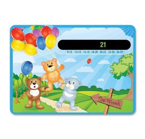 Happy Family Teddy Bears and Balloons Baby Nursery & Room Thermometer Card