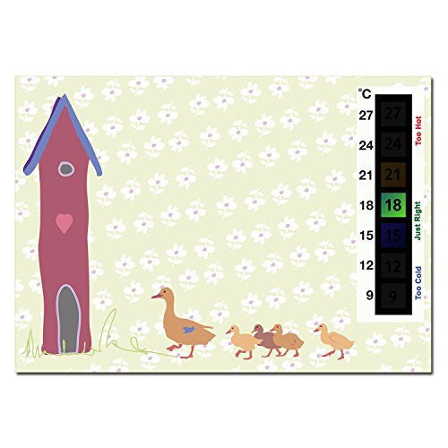 Happy Family Baby Ducklings & Duck House Nursery Room Safety Temperature Thermometer Monitor